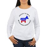 Michigan Democrat Pride Women's Long Sleeve T-Shir