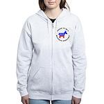 Michigan Democrat Pride Women's Zip Hoodie