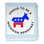 Michigan Democrat Pride baby blanket