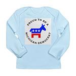 Michigan Democrat Pride Long Sleeve Infant T-Shirt