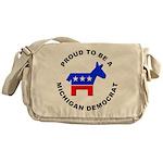 Michigan Democrat Pride Messenger Bag
