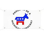 Michigan Democrat Pride Banner