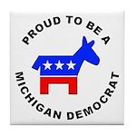 Michigan Democrat Pride Tile Coaster