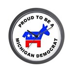 Michigan Democrat Pride Wall Clock