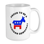 Michigan Democrat Pride Large Mug