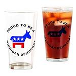Michigan Democrat Pride Drinking Glass