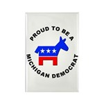 Michigan Democrat Pride Rectangle Magnet (10 pack)