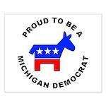 Michigan Democrat Pride Small Poster