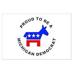 Michigan Democrat Pride Large Poster