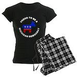 Michigan Democrat Pride Women's Dark Pajamas