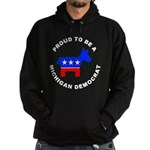 Michigan Democrat Pride Hoodie (dark)