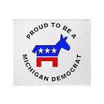 Michigan Democrat Pride Throw Blanket