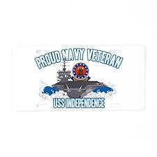 Proud Navy Veteran Aluminum License Plate