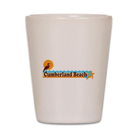 Cumberland Island GA - Beach Design. Shot Glass