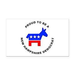 New Hampshire Democrat Pride Rectangle Car Magnet
