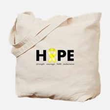 Yellow Ribbon Hope Tote Bag