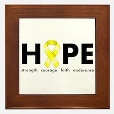 Yellow Ribbon Hope Framed Tile