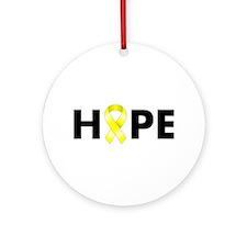Yellow Ribbon Hope Ornament (Round)