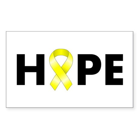 Yellow Ribbon Hope Sticker (Rectangle)
