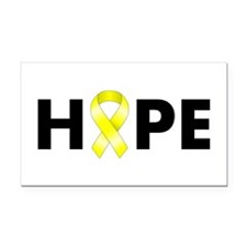 Yellow Ribbon Hope Rectangle Car Magnet