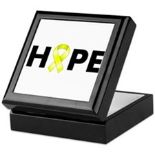 Yellow Ribbon Hope Keepsake Box