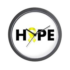 Yellow Ribbon Hope Wall Clock
