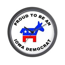 Iowa Democrat Pride Wall Clock