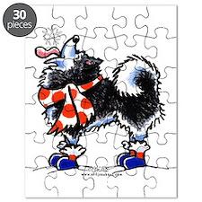 Alaskan Malamute Snowflake Puzzle