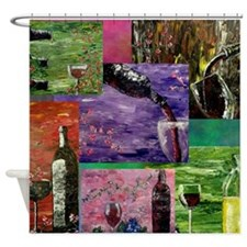 Sensual Wines Shower Curtain