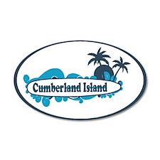 Cumberland Island GA - Oval Design. Wall Decal
