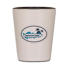 Cumberland Island GA - Oval Design. Shot Glass