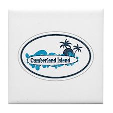 Cumberland Island GA - Oval Design. Tile Coaster
