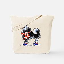 Alaskan Malamute Snowflake Tote Bag