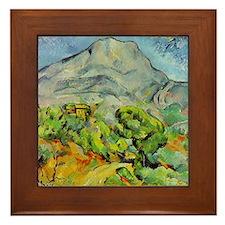 Cezanne Mont Sainte-Victoire Framed Tile