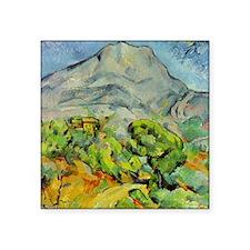 """Cezanne Mont Sainte-Victoire Square Sticker 3"""" x 3"""