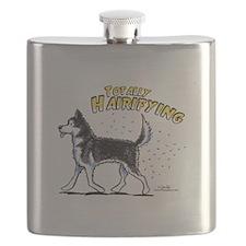 Siberian Husky Hairifying Flask
