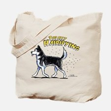 Siberian Husky Hairifying Tote Bag