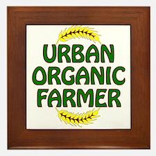 Urban Organic Farmer Framed Tile
