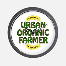 Urban Organic Farmer Wall Clock