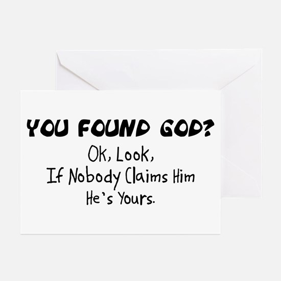 You Found God Greeting Cards (Pk of 10)