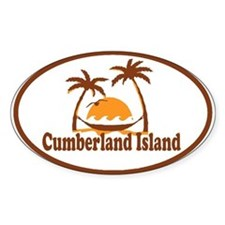 Cumberland Island GA - Oval Design. Decal