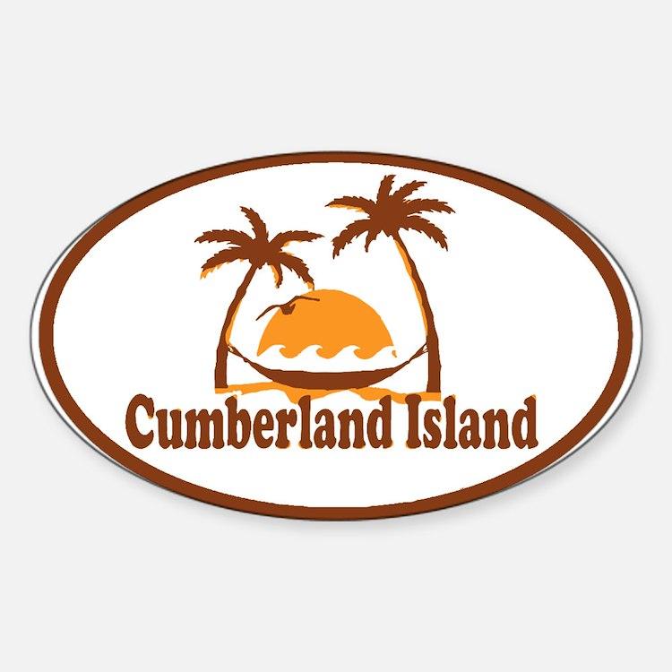 Cumberland Island GA - Oval Design. Decal
