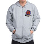 2-sided Navy Veteran Zip Hoodie
