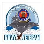 USS Independence Square Car Magnet 3