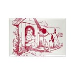 CHILD IN DOGHOUSE Rectangle Magnet (10 pack)