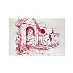 CHILD IN DOGHOUSE Rectangle Magnet (100 pack)