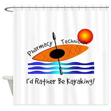 pharmacy technician kayaking.PNG Shower Curtain