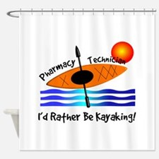 pharmacy technician kayaking.PNG Shower Curtain