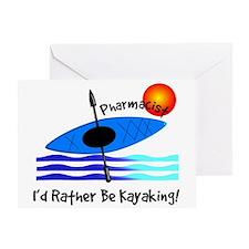 pharmacist kayaker.PNG Greeting Card