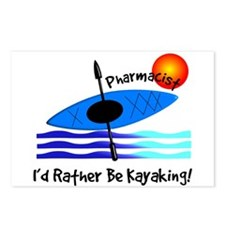 pharmacist kayaker.PNG Postcards (Package of 8)